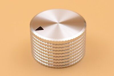 Silver aluminum 25*15.5*6mm knob cap for potentiometer audio equipment