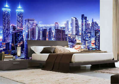 Crystal Concise City 3D Full Wall Mural Photo Wallpaper Printing Home Kids Decor