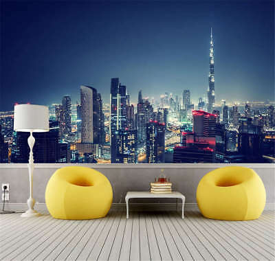 Dark Concise Night 3D Full Wall Mural Photo Wallpaper Printing Home Kids Decor