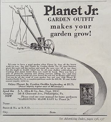 Vintage 1931 Ad (Xx52)~Planet Jr. Garden Outfit No.25