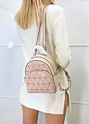38d6a43809 Michael Kors Abbey Extra Small Backpack Mini Crossbody Saffiano Leather  Ballet