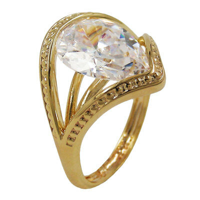 Ring, 18mm gold-plattiert Zirkonia