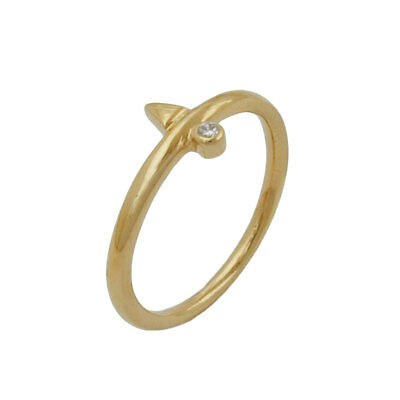 Ring, kl. Zirkonia, gold-plattiert