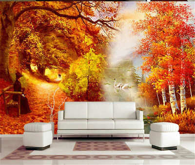Complex Pure Autumn 3D Full Wall Mural Photo Wallpaper Printing Home Kids Decor