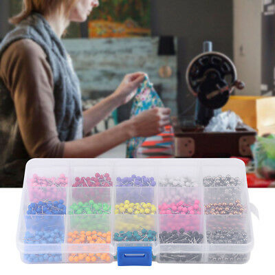 900pcs Mix colored Round Head Pearl Pins Dressmaking Quilting Craft DIY with Box