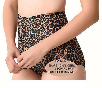 Firm Control Leopard Print Tummy Tuck & Bum Lift Slimming Shapeweae Panty Girdle