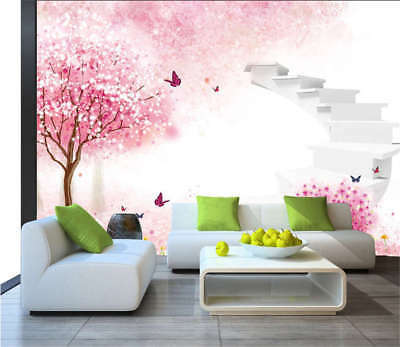 Pink Concise Peony 3D Full Wall Mural Photo Wallpaper Printing Home Kids Decor