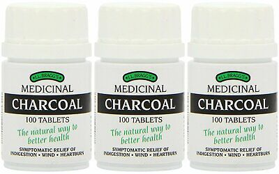 3 x Bragg Charcoal Tablets 100 Baggs Lactose Free Tabs (3 Pack)