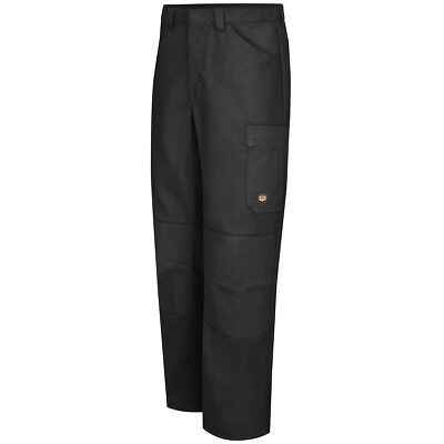 Red Kap Mens Performance Shop Work Pants, Black