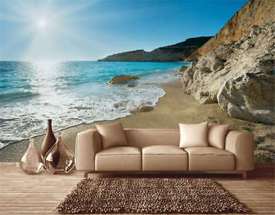 Clear Water Realm 3D Full Wall Mural Photo Wallpaper Printing Home Kids Decor