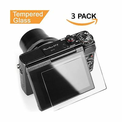 Glass Screen Protector for Canon G7X Mark II G9X G9XII G7X G5X Kimilar 3 Pack...