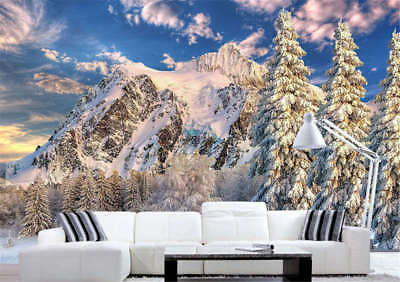Cold Snow Realm 3D Full Wall Mural Photo Wallpaper Printing Home Kids Decor