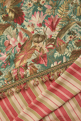 Antique French fabric Coordinating Pillow / upholstery fabrics ~ Belle Epoque +