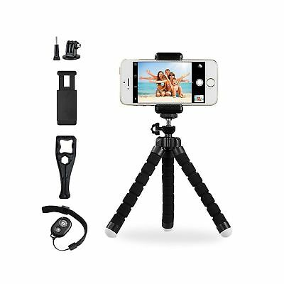Octopus Style Portable and Adjustable Tripod Stand Holder for iPhone Android ...