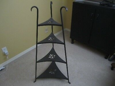 Longaberger Wrought Iron Bowl Stand 4 Tier Shelf EUC LOCAL PICK UP ONLY