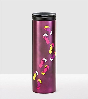 Starbucks Stainless Steel Sandals Troy Tumbler Purple Beach Collection 16 Oz