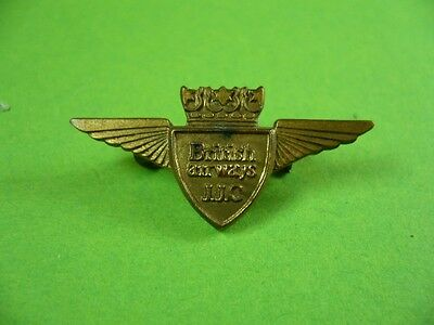 Pin, Anstecker British Airways J.J.C.; JJC Junior Jet Club Vintage Badge Brosche