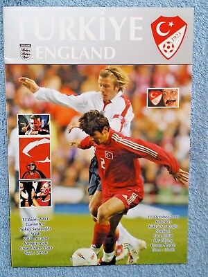 2003 - TURKEY v ENGLAND PROGRAMME - EURO 2004 QUALIFIER - V.G CONDITION