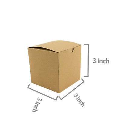 Square Brown Kraft Paper Boxes Gift Box Wedding Candy Party Favor 10pc 50pc