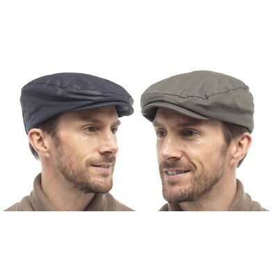 Mens Flat Cap Barbour Style Fishing Golfing Shooting Country Adults Lined Hat