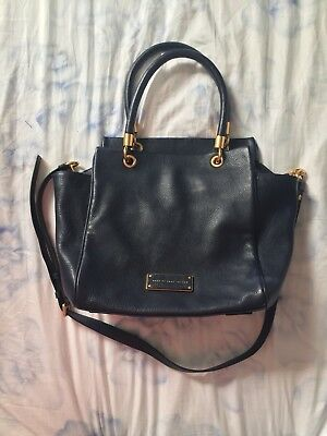 885e08975630 NWT MARC BY MARC JACOBS Too Hot to Handle Leather Satchel Messenger Bag Navy