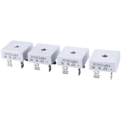 4X 50A 1000V Metal Case Single Phases Diode Bridge Rectifier Kbpc5010 Q1P3