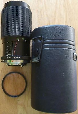 VIVITAR AUTO ZOOM 75-150mm F3.8 - lens Olympus OM mount w/ hard case and filter