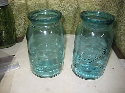822-5Two Quart Ball Standard Wax Sealer Fruit Jars, From About 1888-1912