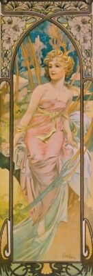 Alphonse Mucha - Times Of Day Morning Poster Art Print (36x12in) #64759