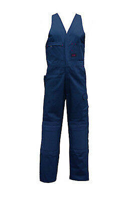 Eezneez EN3001N Navy Cotton Action Back Padded Knee Overall Size 97S New