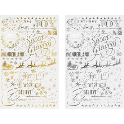 Tim Holtz Idea-ology Remnant Rubs Rub Ons - GILDED CHRISTMASTIME