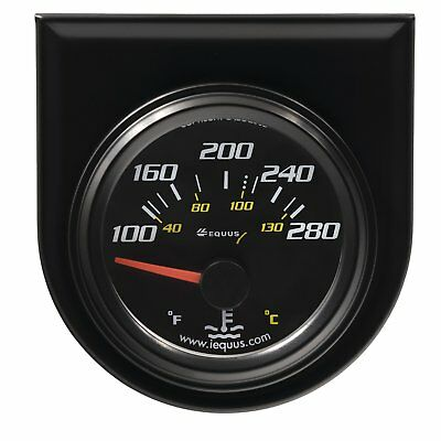 Equus 6262 Water Temperature Gauge Black