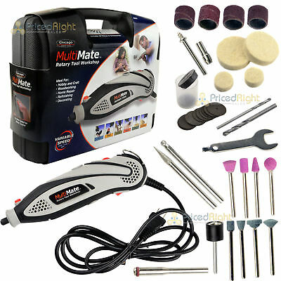 Rotary Tool Variable Speed Kit Grinder Sander Engraver with Accessories