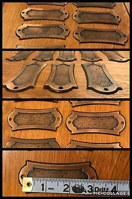 8 BACKPLATES for Handles Pulls Copper Tone Cabinet Drawer Medieval Vintage