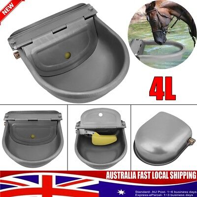 Automatic Water Trough Stainless Steel Sheep Dog Chicken Cow Auto Fill Bowl 4L