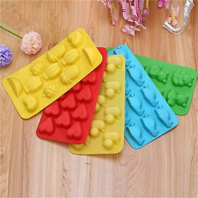 Silicone Cookie Chocolate Jelly Soap Mold Love Heart Fruit Ice Cube Tray Mould
