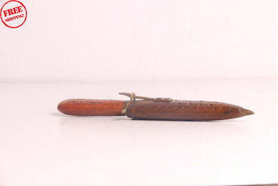 1850's Antique Rare Old Hand Forged Beautiful Dagger / Khanjar Wooden Cover 3909