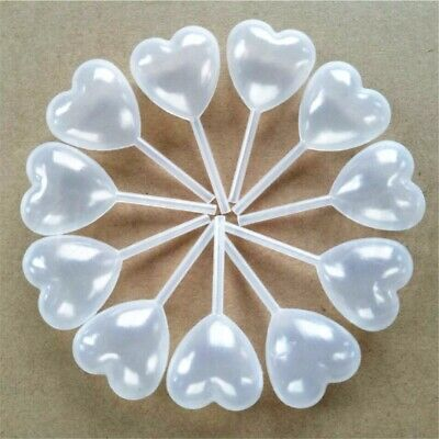100pcs new Heart Shaped Plastic Squeeze 4ml Transfer Oils Pipettes Eye Dropper