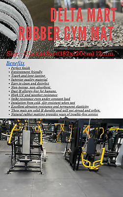 Heavy Duty Large Rubber Gym Black Crossfit Mat Commercial Flooring  garage mat