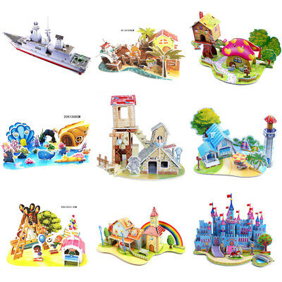 3D DIY Puzzle Gift For Children  Houses Puzzle Toy Jigsaw Baby Toy