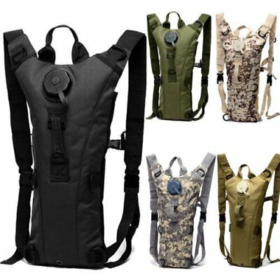 3L Water Bladder Bag Military Hiking Camping Hydration Backpack Camelbak Pack TB