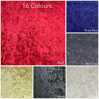 Luxury Quality Soft Crushed Velvet Upholstery Sofas Curtains Fabric 17 Colours