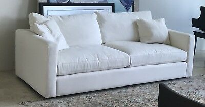Euc Ivory Oyster Abc Carpet And Home Cobble Hill Sofa Couch New Boca Raton