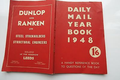 Rare Vintage Book Daily Mail Year Book 1948 + Retro Advertising and illustrated
