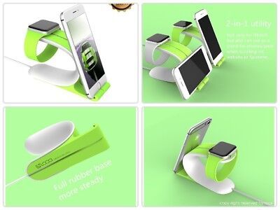 For Apple Watch Stand Smart Watch Night Stand Charging Holder for iPhone,Green