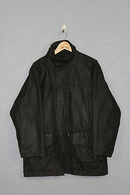Vintage Barbour Black Wax Mens Jacket A1560 Size Medium
