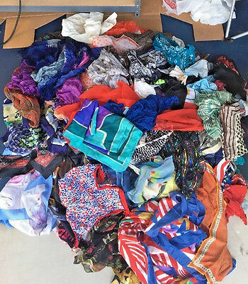 Assorted Vintage Used Scarf Lot Of 25 - Choose Long or Square Shape - Many Lots