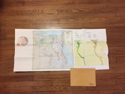 Vintage Original 1970's CIA Map of Egypt W/Israeli Occupied Sinai