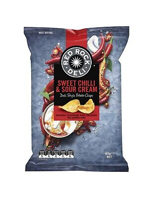Red Rock Chip de Chilli Dulce y Crema Agria 165 g