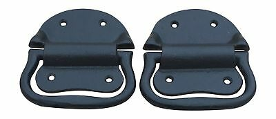 Pair of Cast Iron Trunk Chest Handles Drop Down Trunk Handle with Hardware